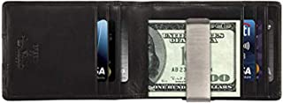 Mens RFID Blocking BIFOLD MONEY CLIP Multi Card Pocket Wallet Italian Leather