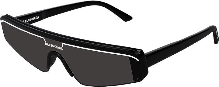 Occhiali da sole balenciaga bb0003s black/grey unisex