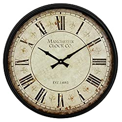 Aspire Layla Round Wall Clock, Black