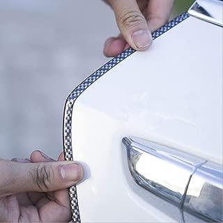 car door edge guards-HengJia Auto Parts 16FT(5M) door edge trim Rubber Seal Protector car edge trim with Fits Most Cars, No Glue Needed(Black Carbon Fiber)