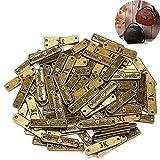 100 piezas botones hechos a mano etiqueta de metal hecho a m
