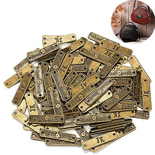 100 piezas botones hechos a mano etiqueta de metal hecho a mano diy artesanía joyería haciendo accesorios artesanías decoraciones botones hechos a mano para jeans bolsos zapatos sombrero