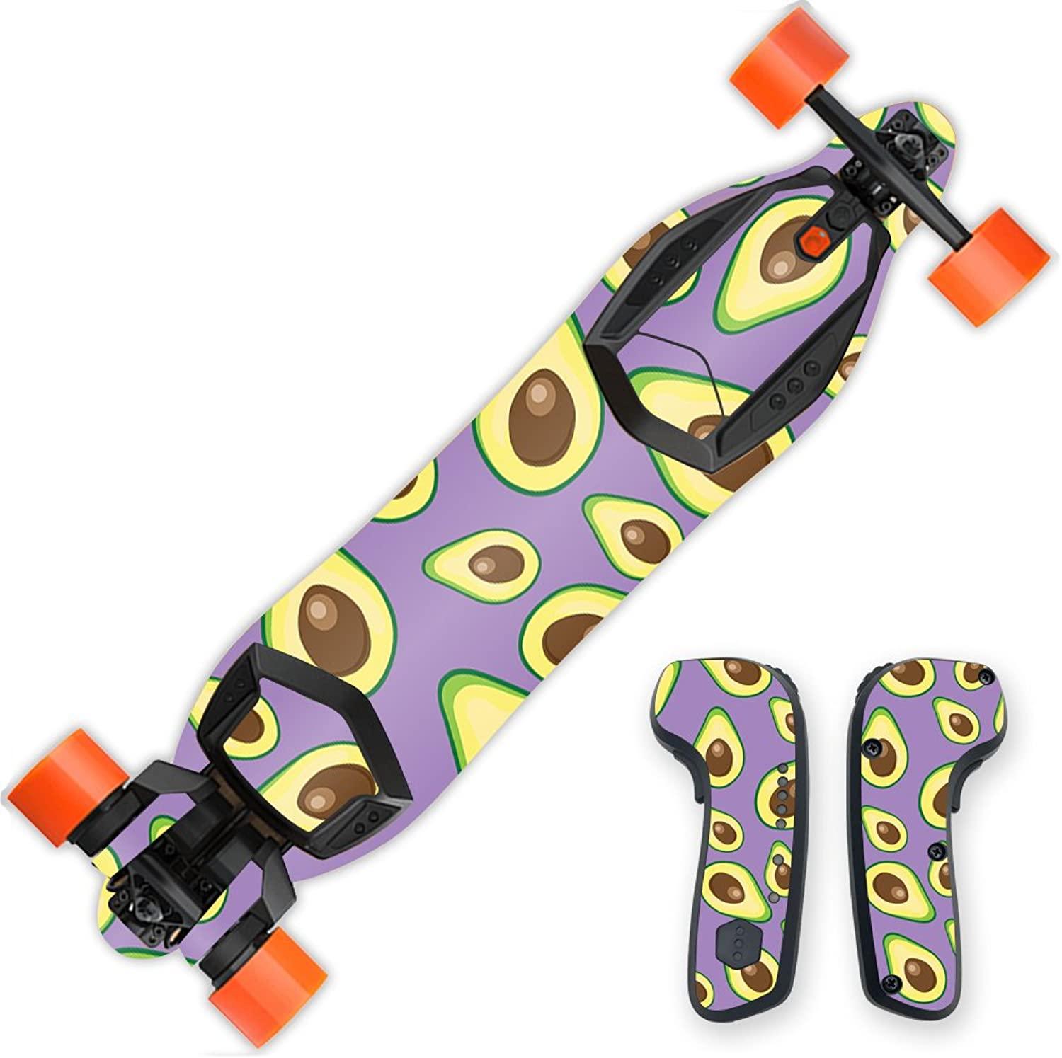 MightySkins Skin Compatible with Boosted Board wrap Cover Sticker Skins Purple Avocados