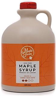 comprar comparacion Jarabe de arce Grado A (Amber, Rich taste) - 1,89 litros (2,5 Kg) - Miel de arce - Sirope de Arce - Original maple syrup