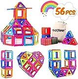 Soyee 56PCS Magnetic Blocks STEM Educational Toys Learning Construction Magnetic Building Blocks Tiles