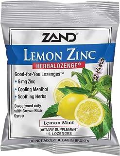 Zand HerbaLozenge Lemon Zinc | Throat Lozenges | No Corn Syrup, No Cane Sugar, No Colors | 15 Lozenge, 1 Bag