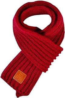 Lumanuby 1X Écharpe Accessoire Branches pour Enfants Écharpe en Tricot de Laine Belle écharpe à Rayures Collar Foulards El...