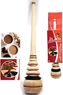 Wooden Whisk Stirrer Molinillo Mexican Chocolate Cocoa Mixer Stirrer Frother by ATB