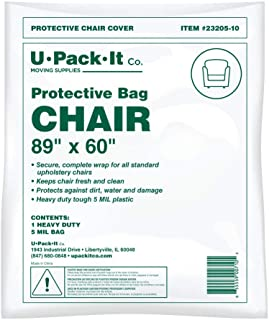 Furniture Moving and Storage Bag; Large Clear Protective Plastic Bag for Chairs