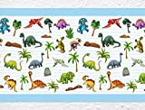dekodino Kinderzimmer Bordüre Borte Dinosaurier Tiermotiv selbstklebend Tapetenstreifen