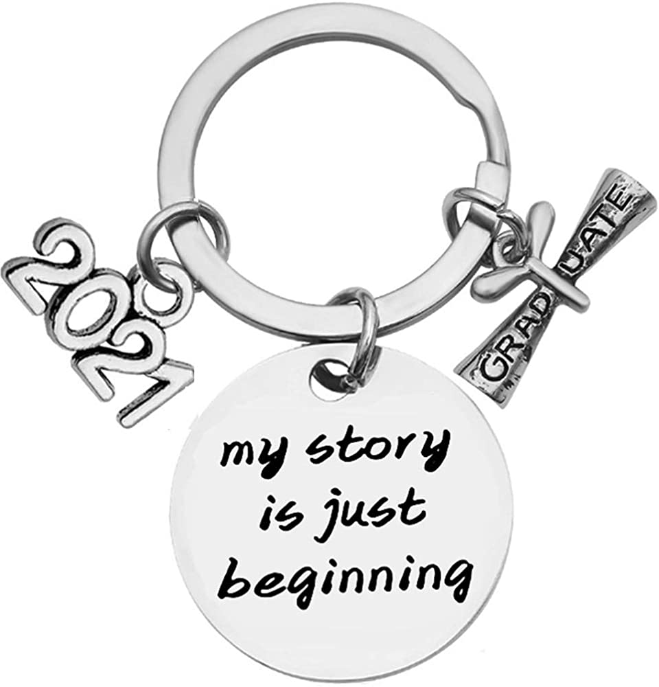 Stainless Colorado Springs Mall Steel Class 2021 In stock Keych Graduation Inspirational Mantra