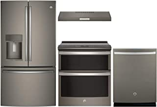 GE Profile 4 piece Kitchen Package with PFE28KMKES 36