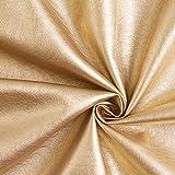 Kunstleder Metallik Glanz – gold — Meterware ab 0,5m
