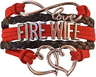 Infinity Collection Firefighters Wife Gift, Fire Wife Bracelet, Proud Firefighters Wife Charm Bracelet - Makes Perfect Wife Gifts