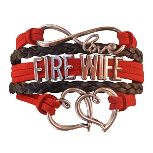 Infinity Collection Firefighters Wife Gift, Fire Wife Bracelet, Proud Firefighters Wife Charm Bracelet -