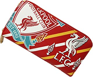 FOOT-ACC Liverpool Fc Wallet Soccer Club Zip PU Long Purse Red