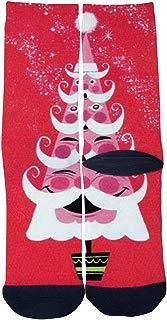 Mens Womens Lovely Santa Claus Christmas tree Socks 3D Print Custom Creative Casual Crew Socks