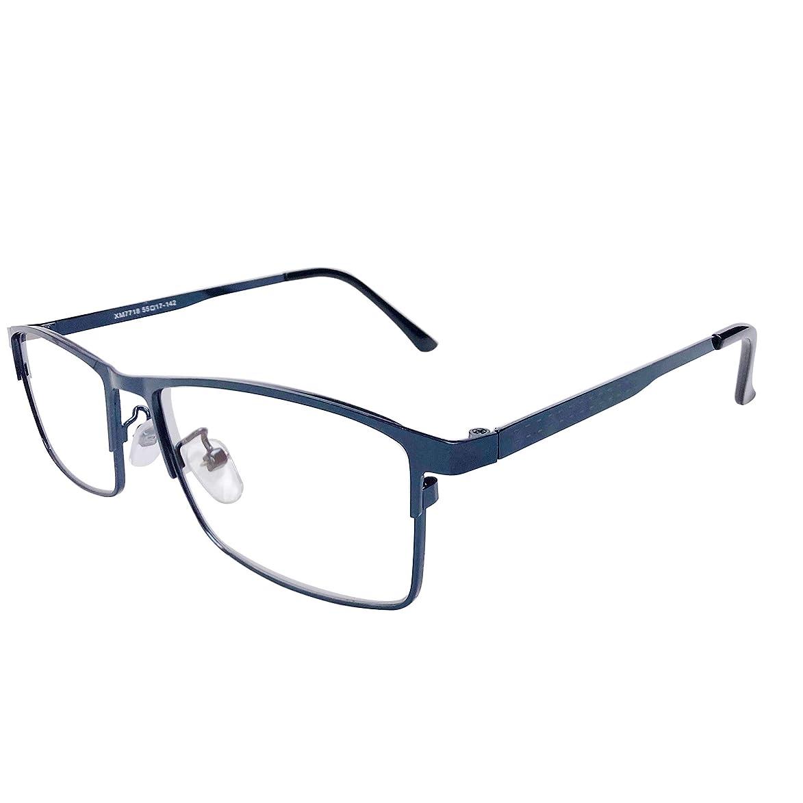 WINTER PLUM Reading Glasse,Blue Light Blocking Computer Glasses,Anti UV Glare Harmful for Men and Women(7718/Blue)