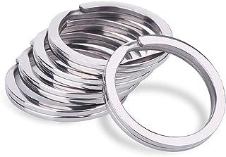 Tenlacum 5PCS Stainless Steel Round Flat Key Rings Split Rings Keyrings Keychain for Home Car Keys Organization (2.0 * 28mm)