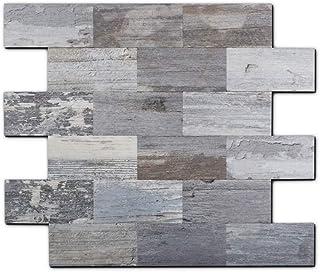 Sponsored Ad – Yipscazo Peel and Stick Wall Tile Backsplash, PVC Light Rustic Backsplash Wood Tile for Kitchen Peel and St...