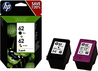 comprar comparacion HP 62 N9J71AE, Negro y Tricolor, Cartuchos de Tinta Originales, Pack de 2, compatible con impresoras de inyección de tinta...