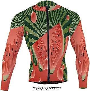Cycling Jersey Long Sleeves Men,Beach Fruit Vegetarian Garden Health Life Hot Se