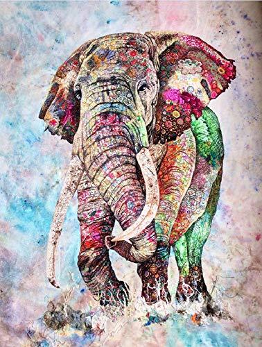 No Puzzle 1000 Pezzi Puzzle Classico 3D Puzzle Elefante Colorato Adulto Kit Fai da Te Giocattolo in Legno Regalo di Festa Decorazione Domestica Moderna
