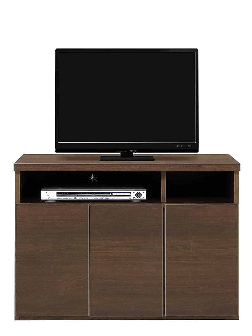 シャベル不定それらテレビ台 ハイタイプ テレビボード 完成品 サイドボード 寝室用 ダイニング用 TVボード 幅90/120 ブラウン/ホワイト パーン (幅90cm, ブラウン)
