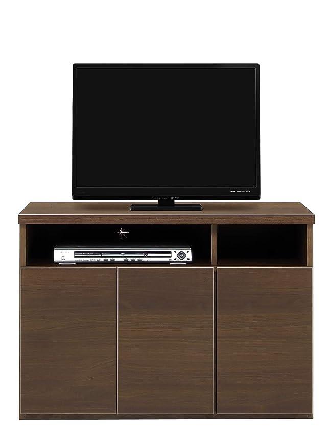 灰崇拝します処方テレビ台 ハイタイプ テレビボード 完成品 サイドボード 寝室用 ダイニング用 TVボード 幅90/120 ブラウン/ホワイト パーン (幅90cm, ブラウン)