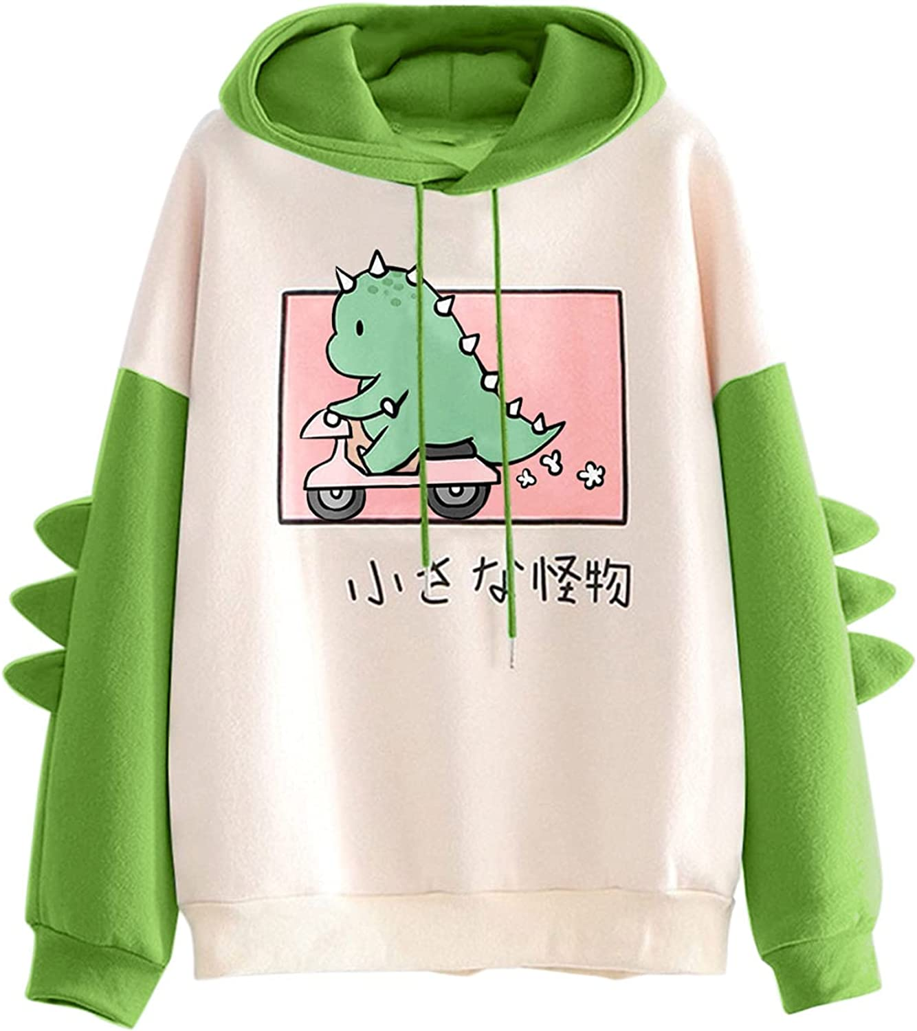Girls Cute Hoodie Long Sleeve Thickening Patchwork Color Block Cute Graphic Oversized Drawstring Hoodie With Design
