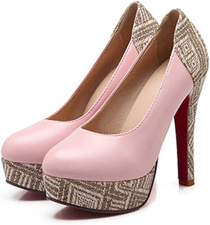 Super High Heel Plus Size Chromatic Platform Low-cut Women shoes pink 39