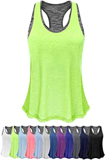Women Lightweight Yoga Shirts with Sport Bra Workout Tank Tops Activewear Camisole for Gym Fitness Running