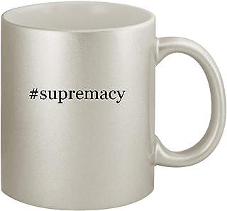 #supremacy - Ceramic Hashtag 11oz Silver Coffee Mug, Silver