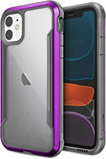 Defense Shield, iPhone 11 Case - Military Grade Drop Tested, Anodized Aluminum, TPU, and Polycarbonate Protective Case for Apple iPhone 11, (Purple)