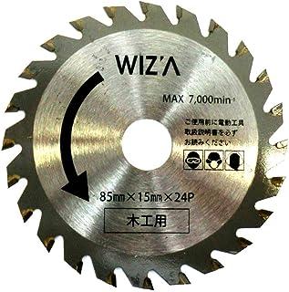 ウィザ (WIZ'A) ミニプランジングカットソー替刃 木工用 85mmX15mmX24P MPS-MB WIZ'A(ウィザ) MPS-MB