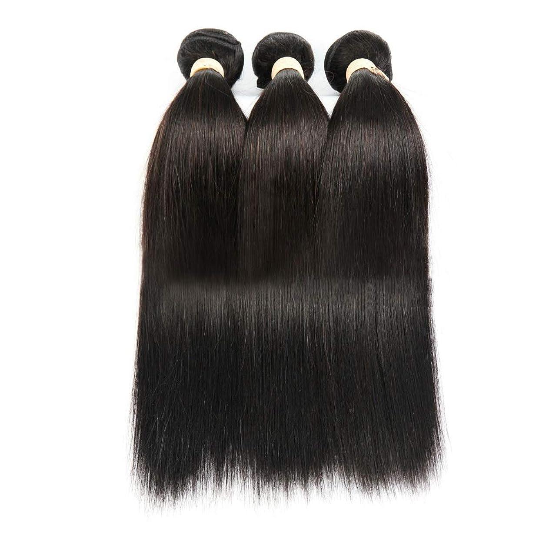 日付付き法的れるYrattary ナチュラルブラック人間の髪織りバンドルリアルナチュラルヘアエクステンション横糸 - ストレート(1バンドル、8-28インチ)女性用合成かつらレースかつらロールプレイングウィッグ (色 : 黒, サイズ : 12 inch)
