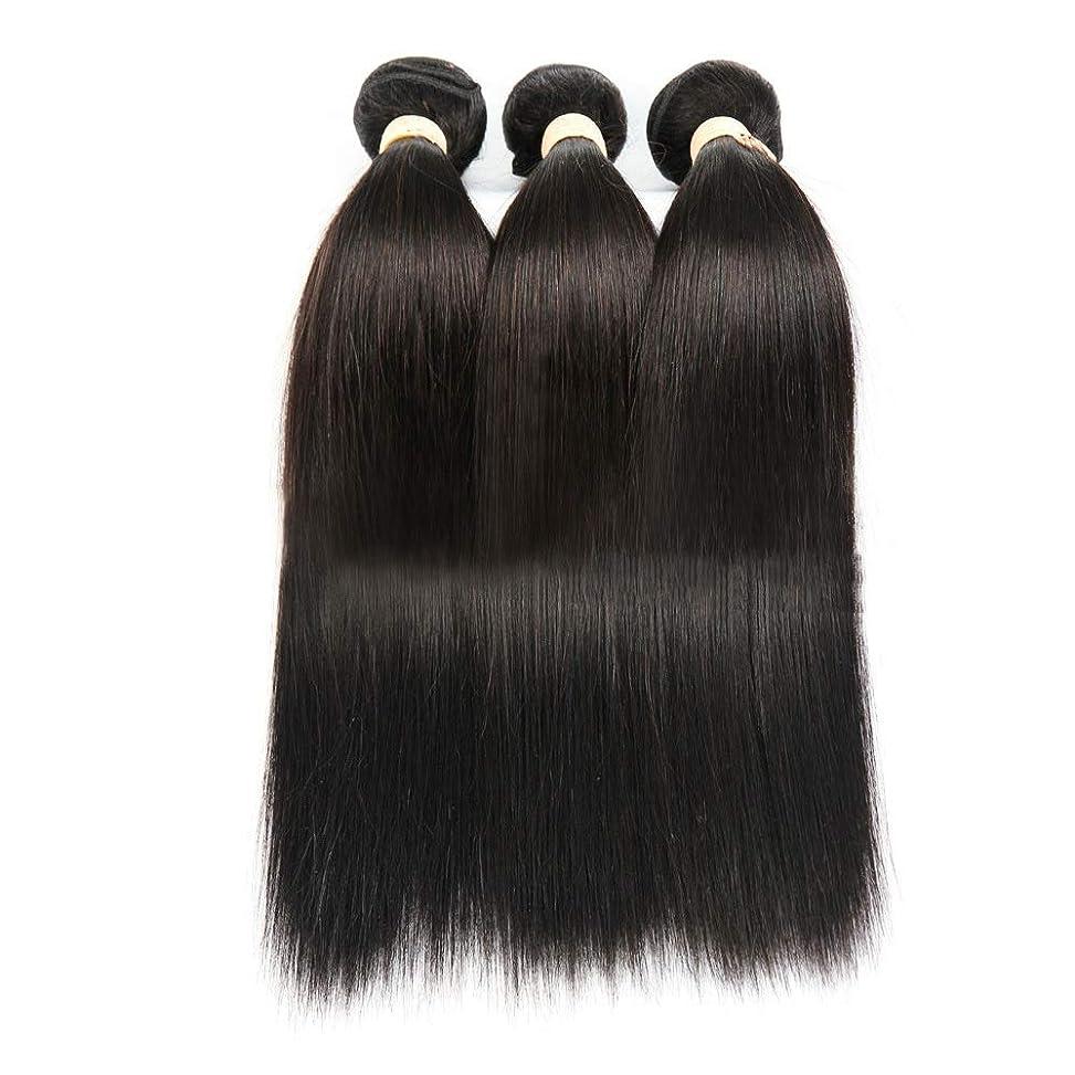 ニュージーランドサドル必要としているBOBIDYEE ナチュラルブラック人間の髪織りバンドルリアルナチュラルヘアエクステンション横糸 - ストレート(1バンドル、8-28インチ)女性用合成かつらレースかつらロールプレイングウィッグ (色 : 黒, サイズ : 26 inch)