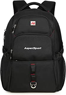 "ASPENSPORT Laptop Backpack for Men fit 15.6""-17"" School Bag Water Repellent"