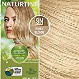 Naturtint Permanent Hair Color 9N Honey Blonde (Pack of 1), Ammonia Free, Vegan, Cruelty Free, up to 100% Gray Coverage, Long Lasting Results