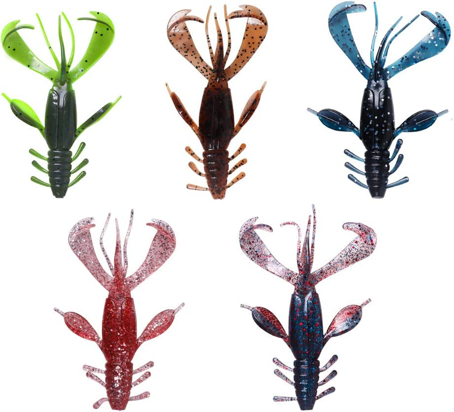 7576 Details about  /Bassday Soft Lure Clone Craw 1.5 Inch 10 Piece per pack 05