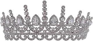 LiChaoWen Corona Corone for Le Donne del Nastro di Cristallo Corone Diademi Ragazze Accessori dei Capelli for Wedding Prom...