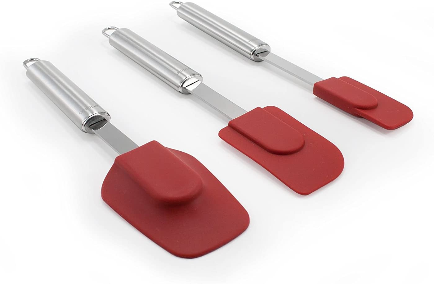 Oneida Stainless Steel Spatulas with Silicone Head, Set of 3