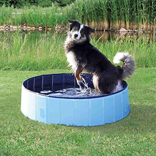 Trixie 39481 Hundepool, ø 80 × 20 cm, hellblau/blau