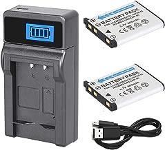 Battery (2-Pack) and LCD USB Charger for Fujifilm FinePix J20, J25, J26, J27, J28, J29 Digital Camera