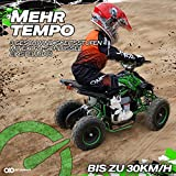 Actionbikes Motors Kinder Elektro Miniquad ATV Racer schwarz/blau - 8