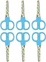 Disney Lot de 6 paires de ciseaux pour enfant en acier inoxydable à bout rond Bleu