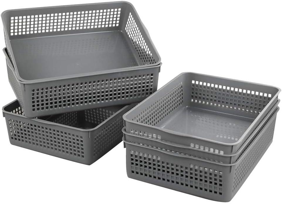 Nicesh Outlet sale feature A4 Ultra-Cheap Deals Size Plastic Basket File Desktop Storage Organization