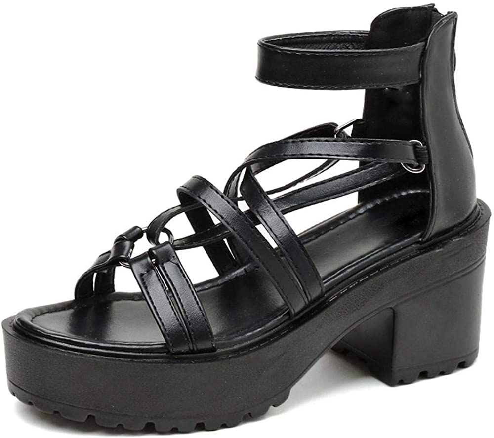 MEILIYA Sandals for depot Women Goth Baltimore Mall Womens Platform Chunky H