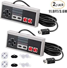 AGPTEK NES Classic Controller for Nintendo Classic Mini Edition, 11.8FT Long Cable 2 Pack Classic Mini Controllers with 2 ...