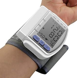 Medidor automático de presión Arterial de la muñeca con Digital Pantalla LCD Uso Doméstico portátil Monitor de PA Pulso del Ritmo cardíaco Lectura de Contador rápido